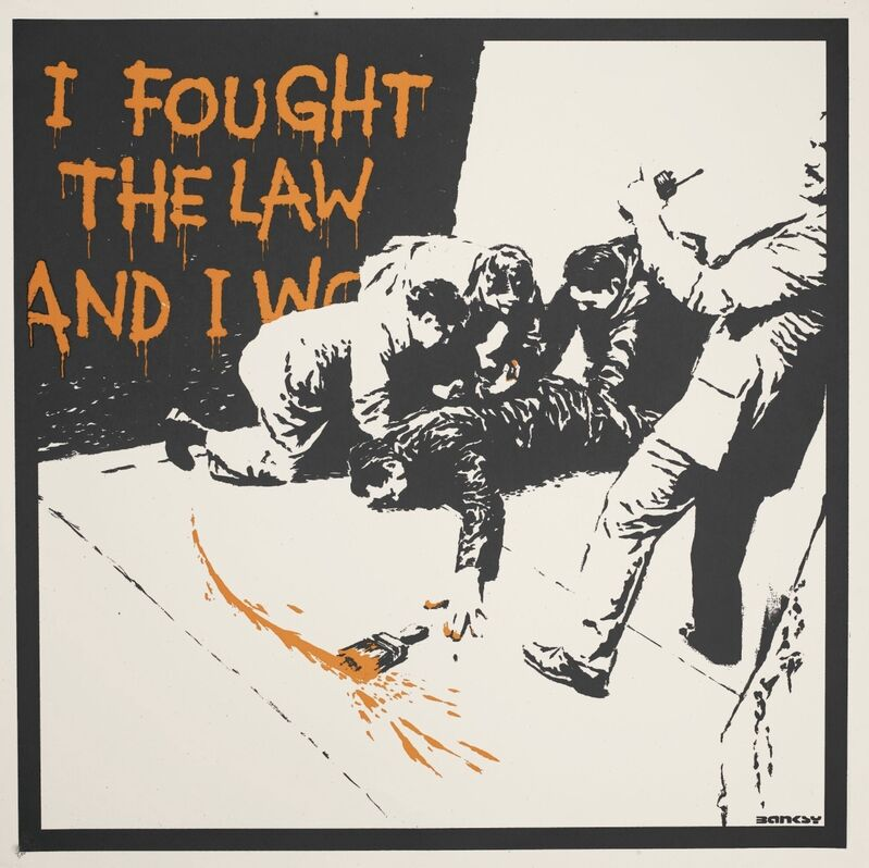 Banksy, 'I Fought The Law - Unsigned', 2004, Print, Screen print on paper, Hang-Up Gallery