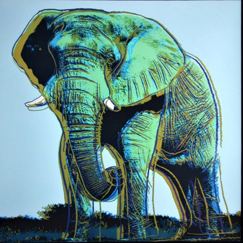 Andy Warhol, 'Elephant for Art Basel', 1987, Print, Limited Edition Offset Lithograph; Mounted and Unframed., Alpha 137 Gallery Gallery Auction