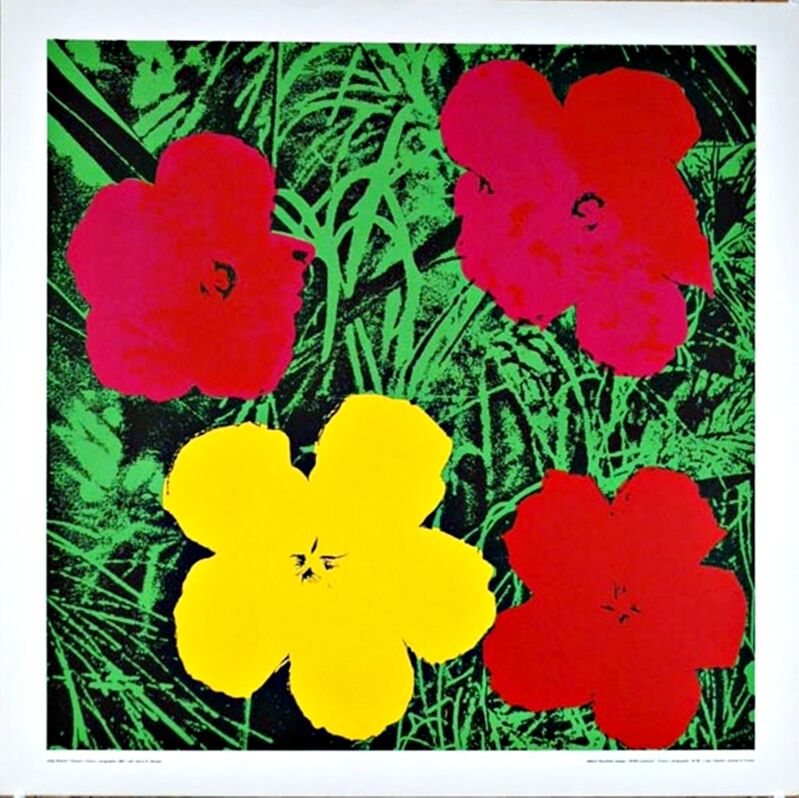 Andy Warhol, 'Flowers (Red & Yellow)', 1970, Print, Silkscreen poster on linen canvas backing. unframed., Alpha 137 Gallery Gallery Auction