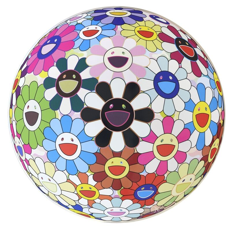Takashi Murakami, 'Flowerball (3D) Blood V', 2011, Print, Offset lithograph printed in colours, Forum Auctions