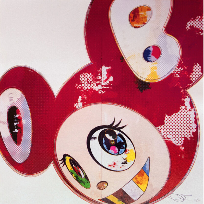 Takashi Murakami, 'AND THEN, 3000 RED', 2013, Print, 4c offset with cold stamp and high gloss varnishing, Marcel Katz Art