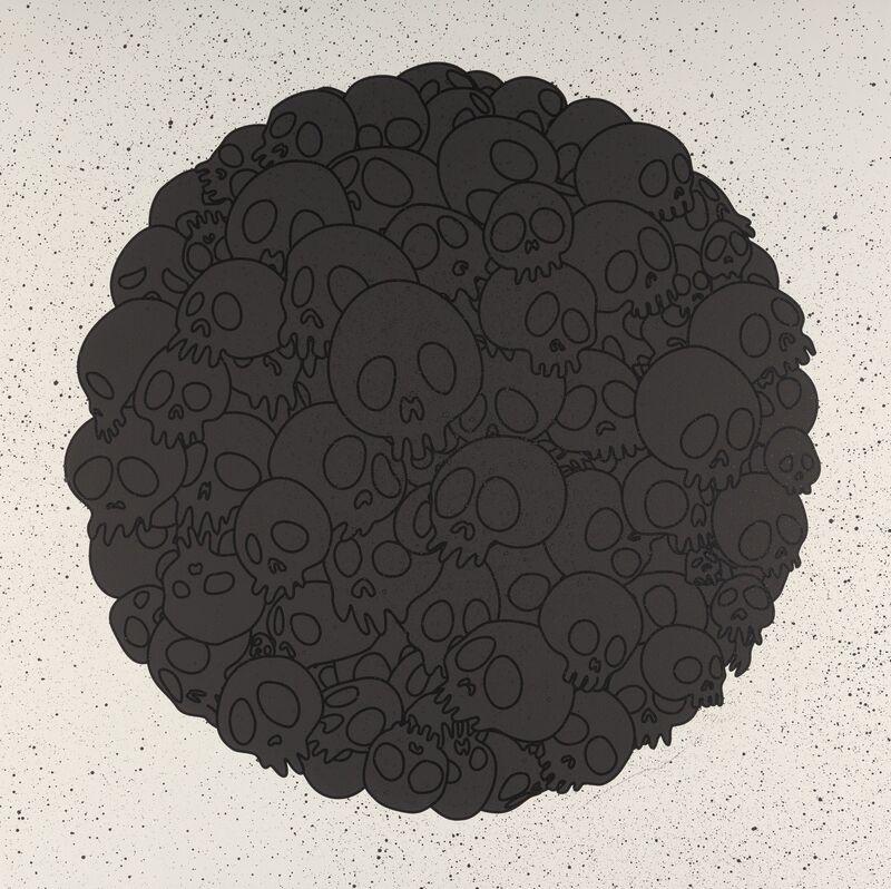 Takashi Murakami, 'Takashi Murakami for BLM: Black Skulls Circle', 2020, Print, Silkscreen in colors with hand embellishments on paper, Heritage Auctions