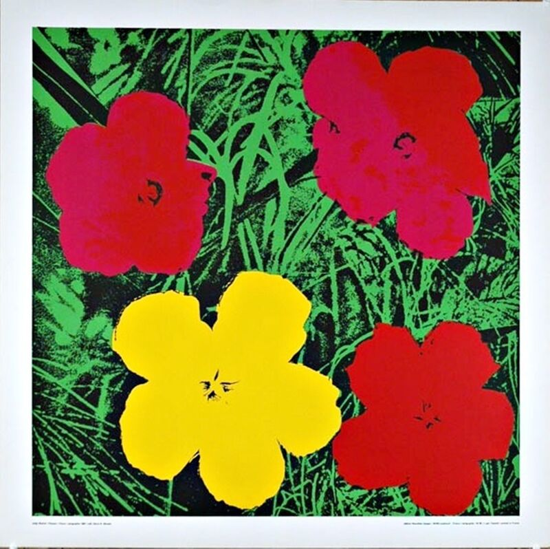 Andy Warhol, 'Flowers (Red and Yellow)', 1970, Print, Silkscreen poster on linen canvas backing. unframed., Alpha 137 Gallery Gallery Auction
