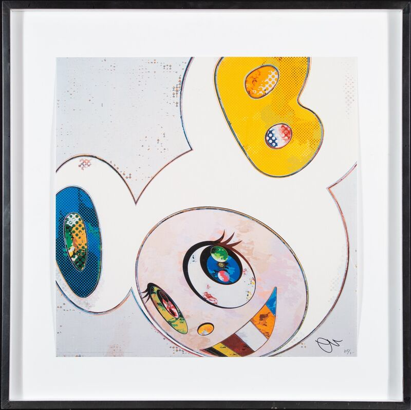 Takashi Murakami, 'And Then x6 (White: The Superflat Method Blue and Yellow Ears)', 2013, Print, Offset lithograph in colors on smooth wove paper, Heritage Auctions