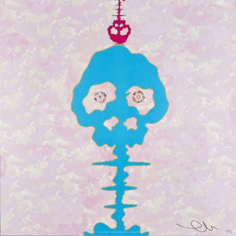 Takashi Murakami, 'Bokan- black, Bokan- camouflage pink, Lime Green-time, Red-Time', 2001-2009, Print, Four offset lithographs in colours on wove, Roseberys