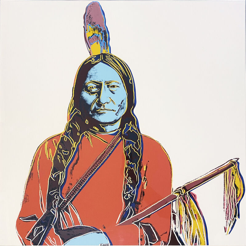 Andy Warhol, 'Sitting Bull', 1986, Print, Screenprint on Lenox Museum Board, Georgetown Frame Shoppe