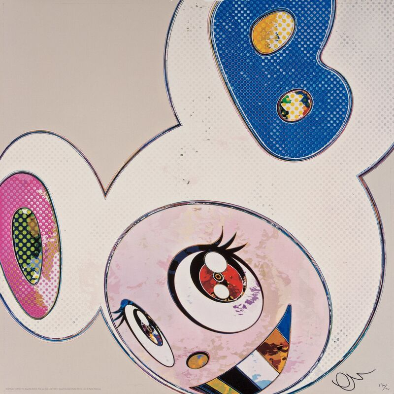 Takashi Murakami, 'And Then X6 (White: The Superflat Method Pink and Blue Ears)', 2013, Print, Offset lithograph in colors on smooth wove paper, Heritage Auctions