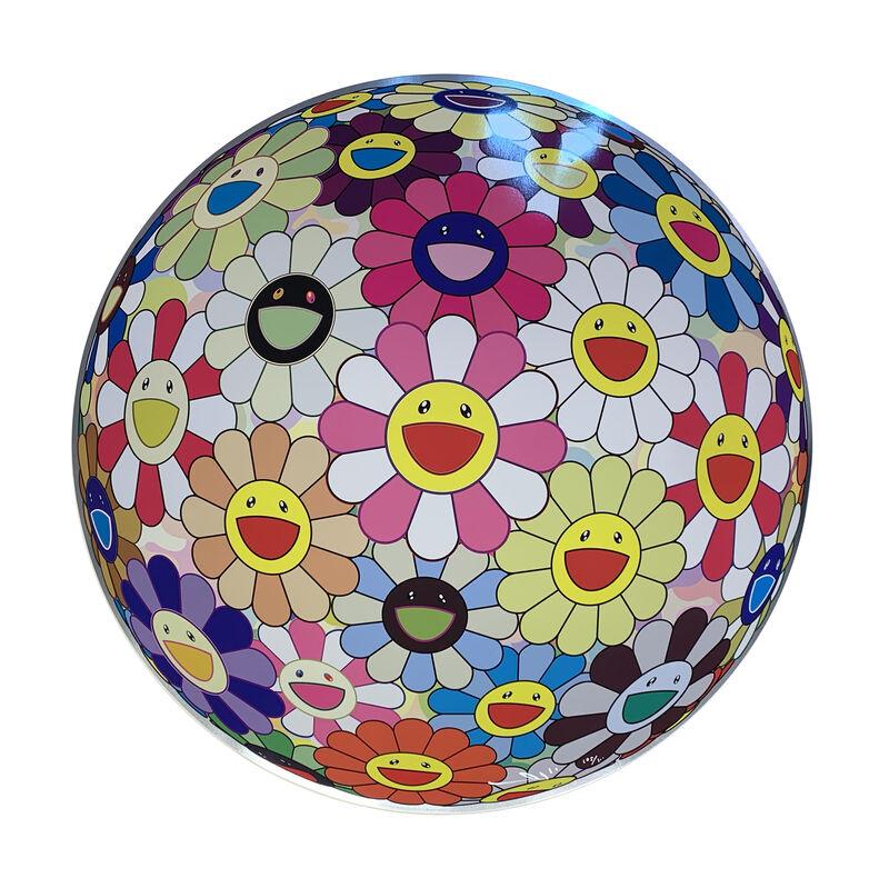 Takashi Murakami, 'Flower Ball Pink', 2007, Print, Offset print with silver, Art Works Paris Seoul Gallery