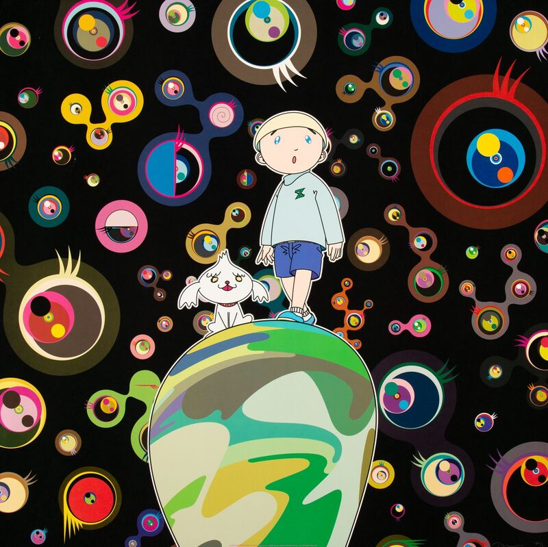 Takashi Murakami, 'Jellyfish eyes- MAX & Shimon in the Strange Forest', 2004, Print, Offset lithographs in colors, Heritage Auctions