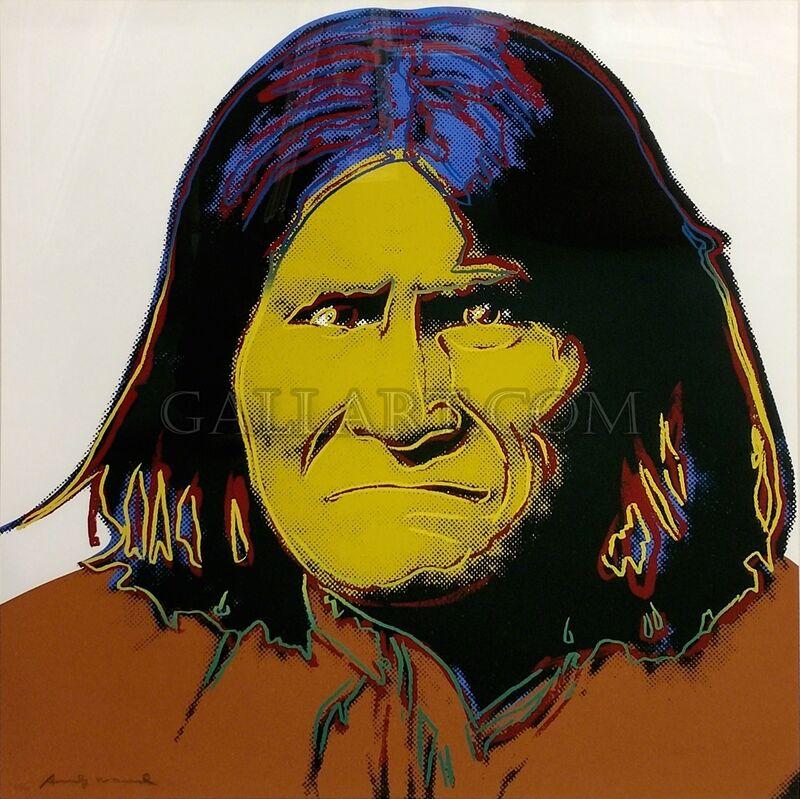 Andy Warhol, 'GERONIMO FS II.384', 1986, Print, SCREENPRINT ON LENOX MUSEUM BOARD, Gallery Art