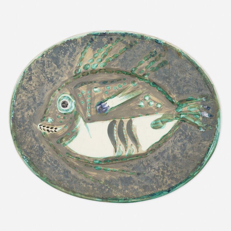 Pablo Picasso, 'Poisson Chine plate', 1952, Design/Decorative Art, Glazed earthenware with engobe decoration, Rago/Wright