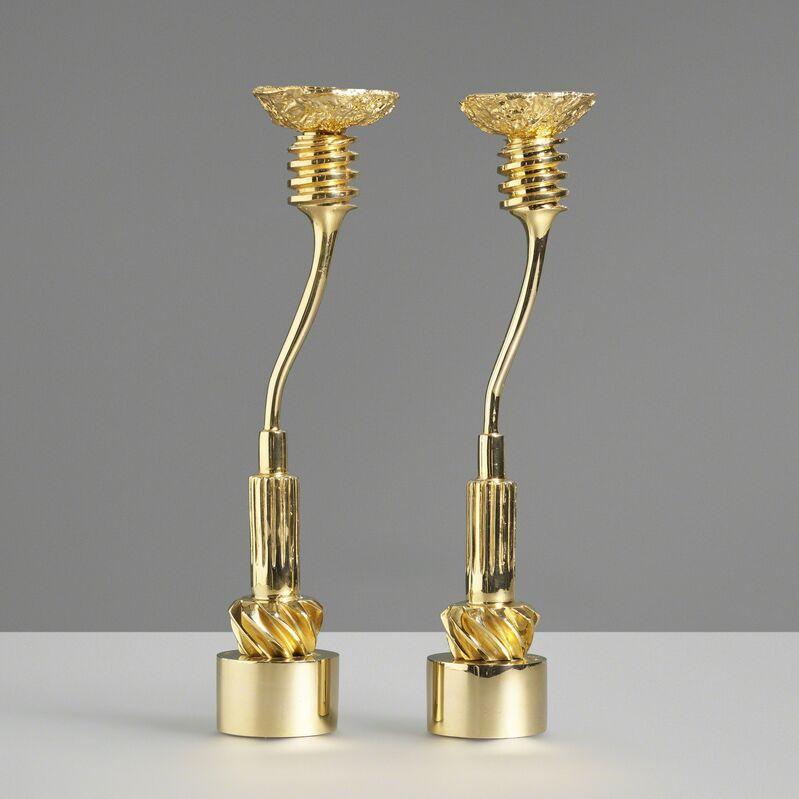 Takis, 'Candlesticks, pair', 1984-85, Design/Decorative Art, Bronze, Rago/Wright