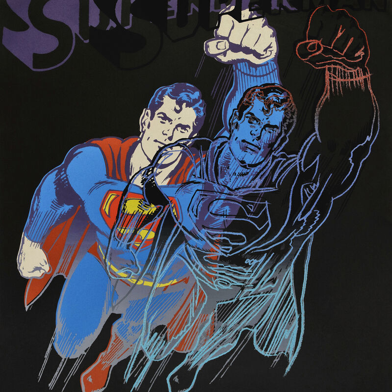 Andy Warhol, 'Superman, from Myths', 1981, Print, Screen print in colours on Lenox Museum Board, Tate Ward Auctions