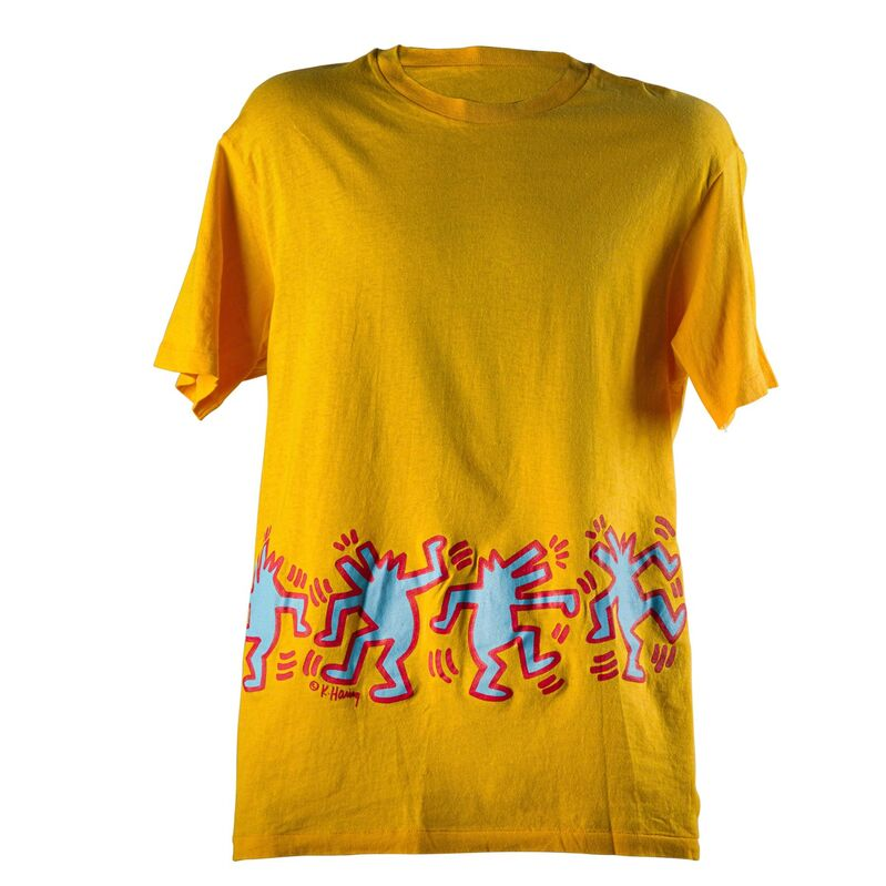 Keith Haring, 'Untitled (Barking Dogs)', Print, Screenprint in colors on Hanes cotton T-shirt, Rago/Wright