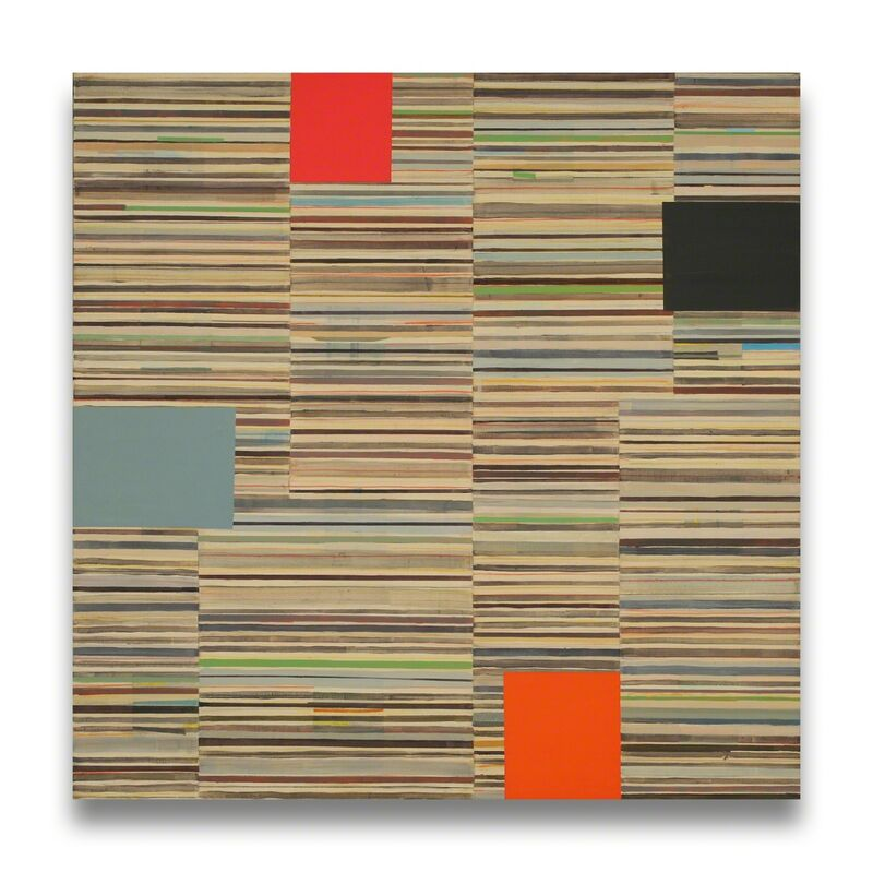 Elizabeth Gourlay, 'Open letter with 4 forms (Abstract painting)', 2012, Painting, Graphite and Flashe on canvas, IdeelArt