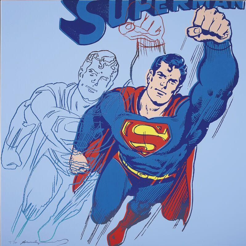 Andy Warhol, 'Superman', 1981, Print, Screenprint in colors with diamond dust, David Benrimon Fine Art
