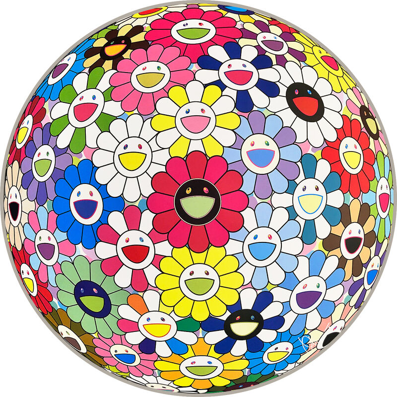 Takashi Murakami, 'Flower Ball (Hold Me Tight)', 2017, Print, Offset Lithograph, Pinto Gallery