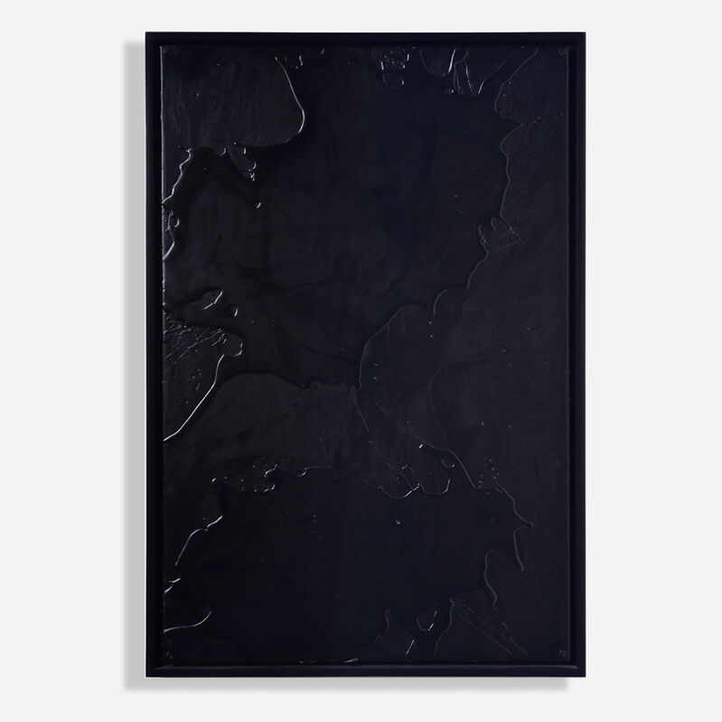Rashid Johnson, 'Cosmic Slop', 2008, Painting, Black soap and microcrystalline wax on board, Artsy x Rago/Wright