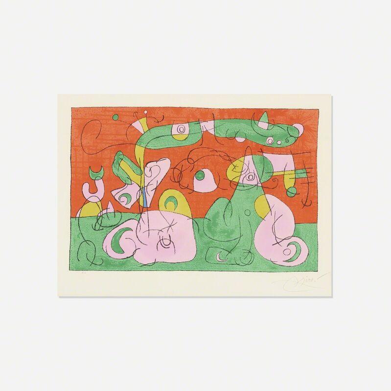 Joan Miró, 'Bougrelas et Sa Mere (from the Ubu Roi portfolio)', 1966, Print, Lithograph on Arches paper, Rago/Wright