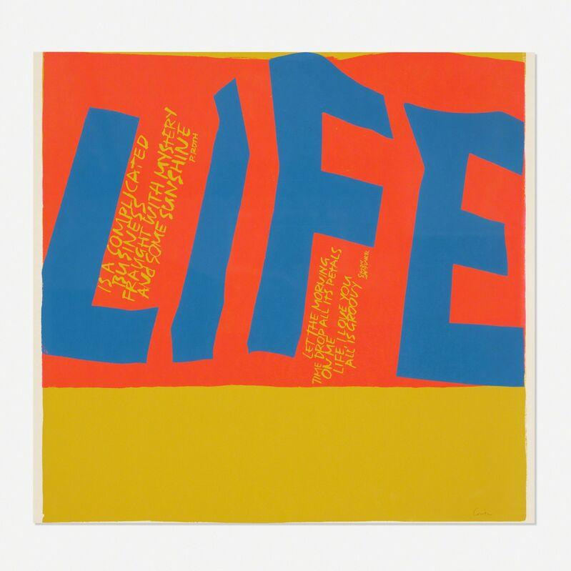 Corita Kent, 'Life is a Complicated Business', 1967, Print, Screenprint on paper, Rago/Wright