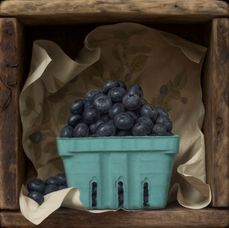 Sean Beavers, 'Notes on Blueberries', ca. 2014, Painting, Oil on panel, Quidley & Company
