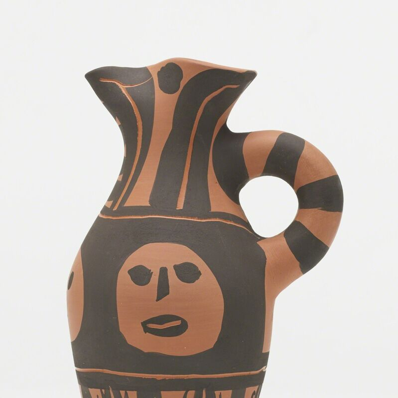 Pablo Picasso, 'Yan Black Headband ewer', 1963, Sculpture, Red earthenware with engobe decoration and knife engraving, Rago/Wright