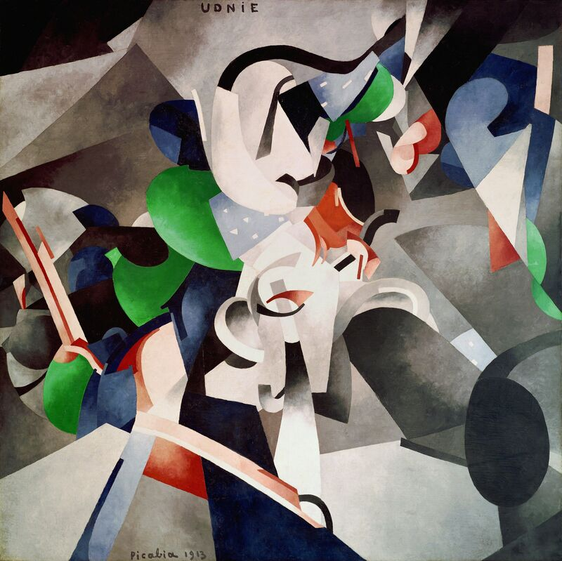 Francis Picabia, 'Udnie (Jeune fille américaine; danse) (Udnie [Young American Girl; Dance])', 1913, Painting, Oil on canvas, The Museum of Modern Art