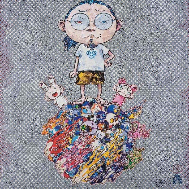 Takashi Murakami, 'Kaikai, Kiki and Me', 2013, Print, Offset print with silver, Pinto Gallery