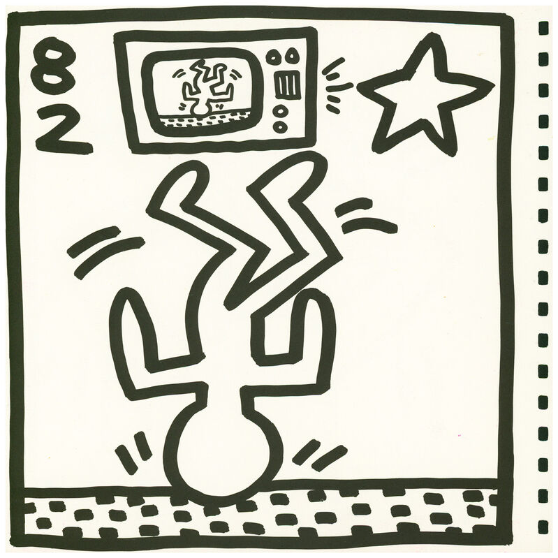 Keith Haring, 'Keith Haring lithograph 1982 (Keith Haring Tony Shafrazi gallery)', 1982, Ephemera or Merchandise, Offset lithograph, Lot 180