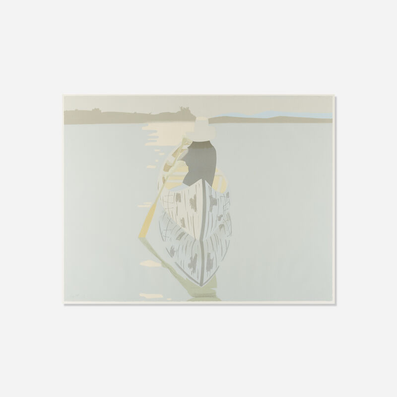 Alex Katz, 'Good Afternoon 2 (Gray Rowboat)', 1975, Print, Lithograph in colors on Arches cover, Rago/Wright