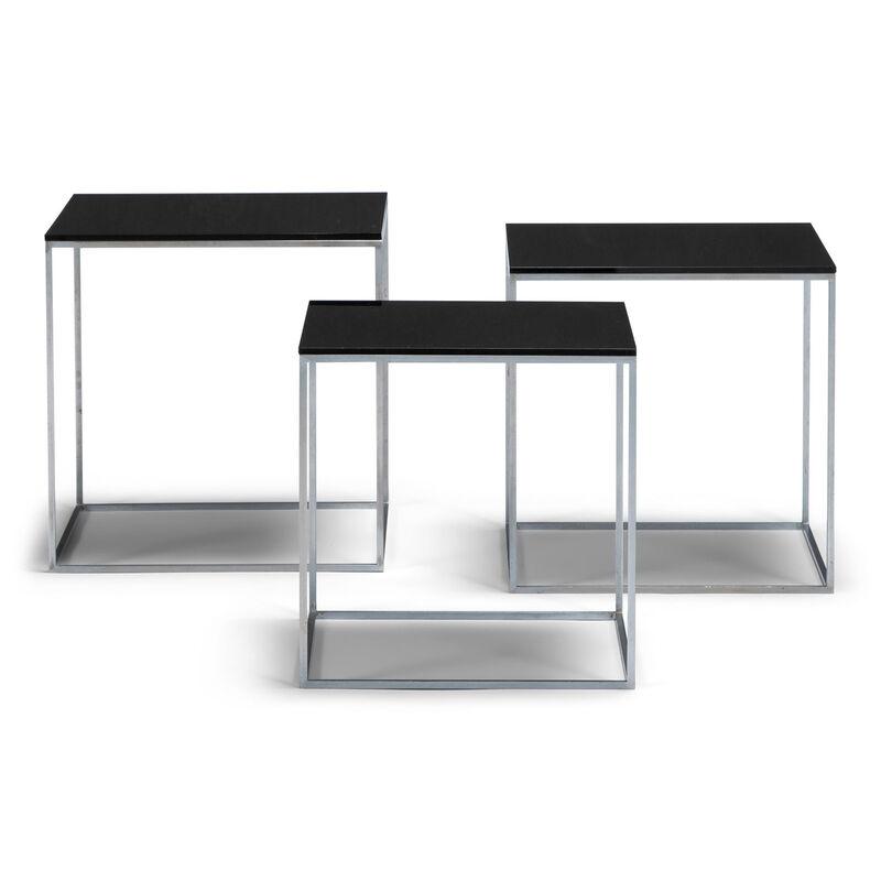 Poul Kjærholm, 'Pk 71 nesting tables', 1957, Design/Decorative Art, Steel and acrylic, Dansk Møbelkunst Gallery