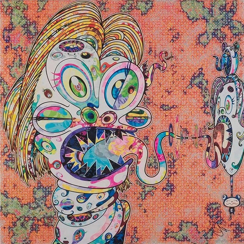 Takashi Murakami, 'Homage to Francis Bacon, Study for Head of Isabel Rawsthorne', 2016, Print, Offset Lithograph, Pinto Gallery