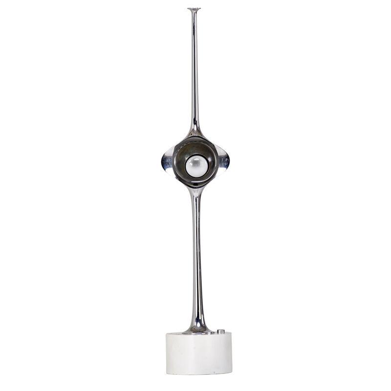 Angelo Lelii, 'Cobra Adjustable Table Lamp, Italy', Early 1950s, Design/Decorative Art, Enameled metal, nickeled brass, single socket, Rago/Wright