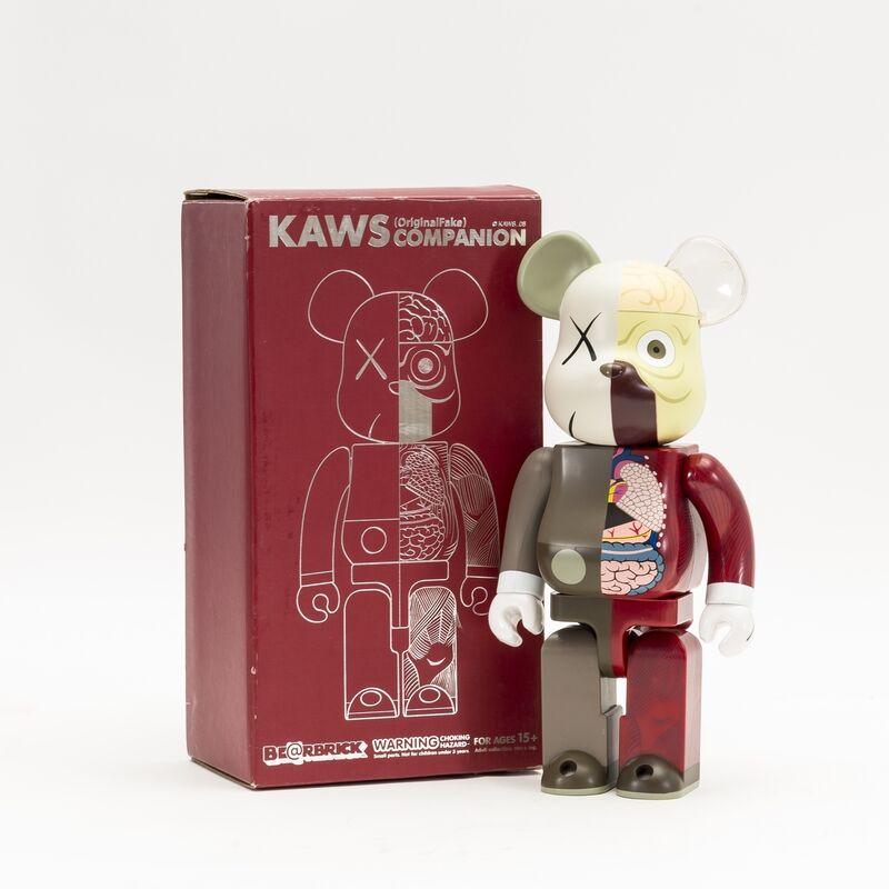 KAWS, 'OriginalFake Dissected Bearbrick Companion 400% (Red)', 2008, Ephemera or Merchandise, Painted Vinyl mutliple, Forum Auctions