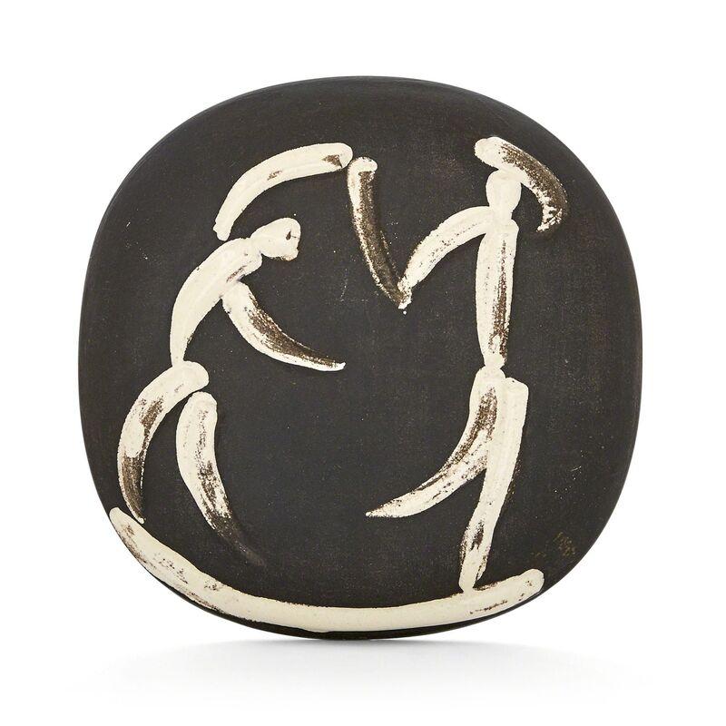 Pablo Picasso, 'Danseurs (A.R. 388)', 1956, Design/Decorative Art, Painted and partially glazed white ceramic plaque, Doyle
