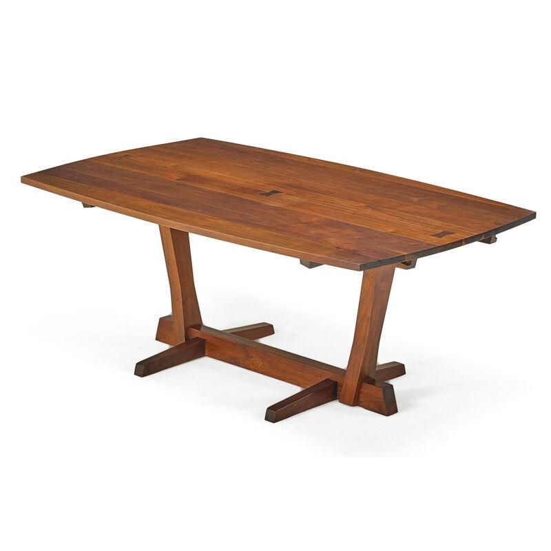 George Nakashima, 'Conoid Dining Table, New Hope, PA', 1964, Design/Decorative Art, Walnut, Rosewood, Rago/Wright