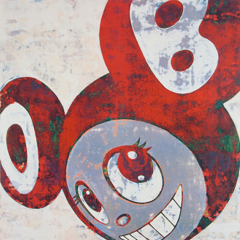 Takashi Murakami, 'And Then And Then And Rust Red', 2006, Print, Lithograph, Kumi Contemporary / Verso Contemporary