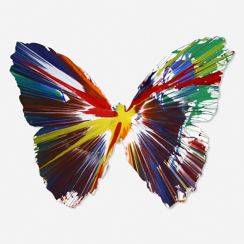 Damien Hirst, 'Butterfly Spin Painting', 2009, Painting, Acrylic on paper, Rago/Wright/LAMA