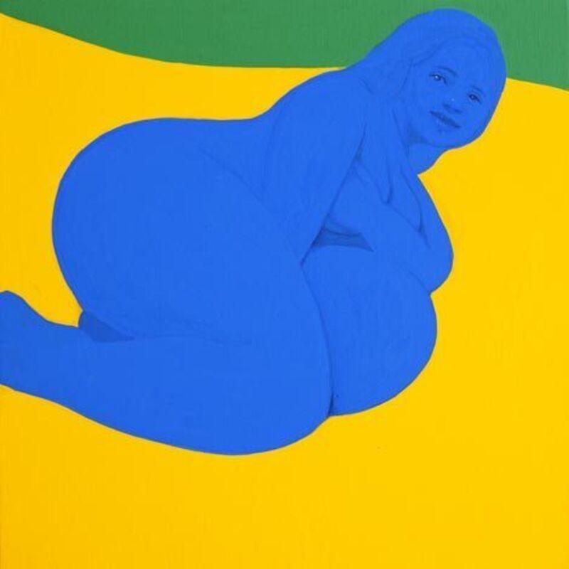 Piero Passacantando, 'Bather #3', 2016, Painting, Acrylic on panel, Uprise Art