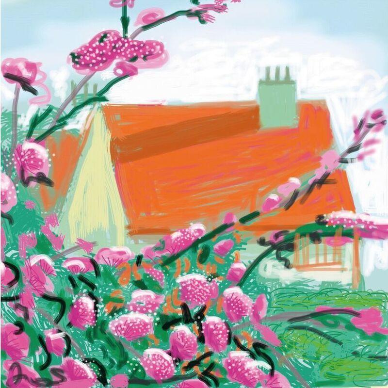 David Hockney, 'iPad Drawing No. 778, 17th April', 2010-2019, Print, IPad drawing, 8-colour inkjet print on cotton-fiber archival paper, Hang-Up Gallery