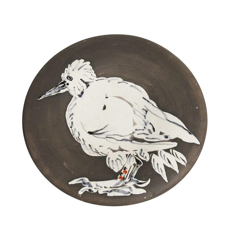 Pablo Picasso, 'Bird No. 76', 1963, Design/Decorative Art, Round white earthenware plate glazed in white, matte black, and red, Skinner