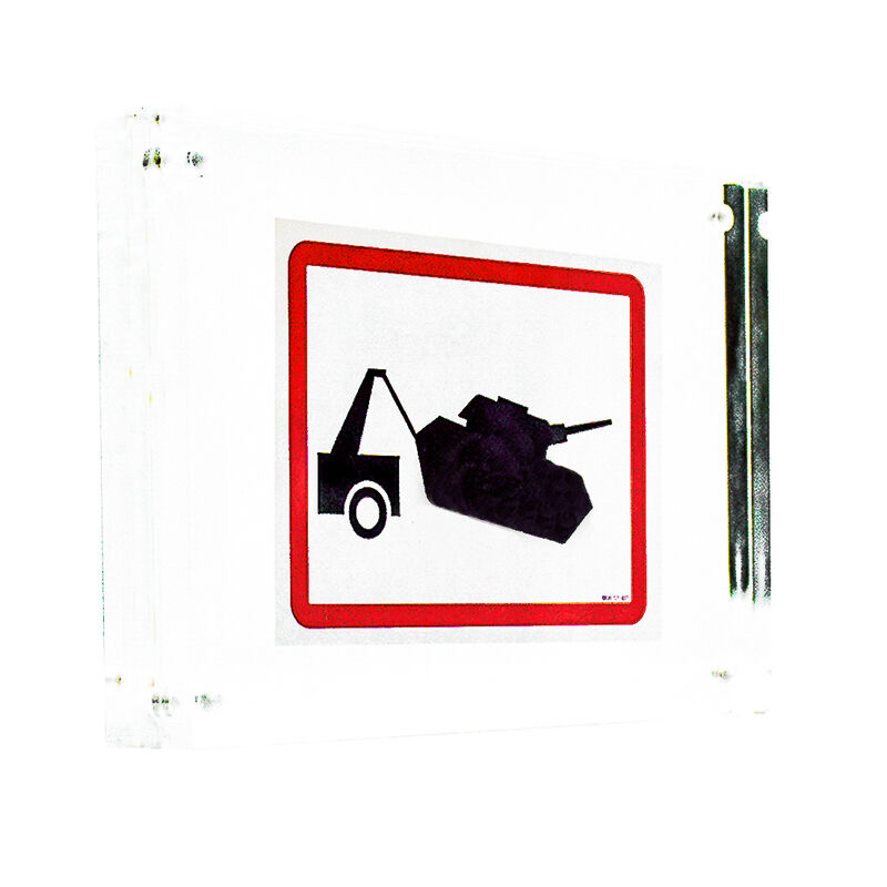 Banksy, 'TANK TOWING STICKER (Framed)', ca. 2006, Ephemera or Merchandise, Sticker printed in 2 colots on Starliner Paper and float framed in new acrylic block frame, Silverback Gallery