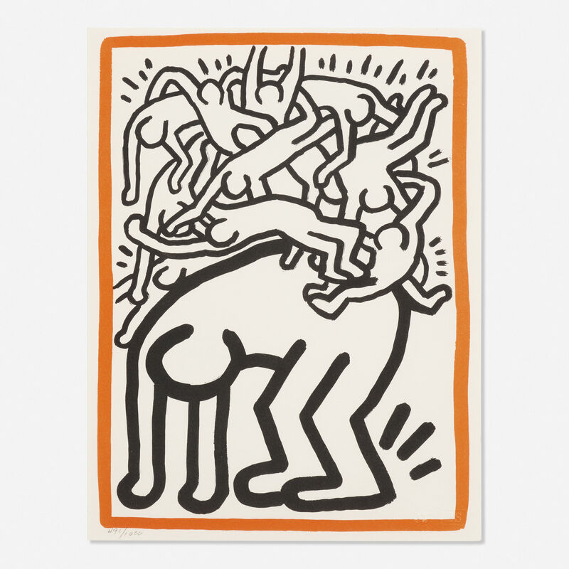 Keith Haring, 'Untitled (Fight AIDS Worldwide)', Print, Lithograph in colors, Rago/Wright