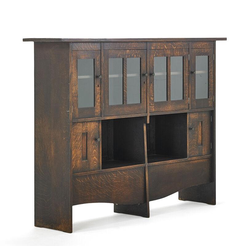 Harvey Ellis, 'Important Bookcase/Cabinet, Possibly Unique, Eastwood, NY', ca. 1903, Design/Decorative Art, Rago/Wright