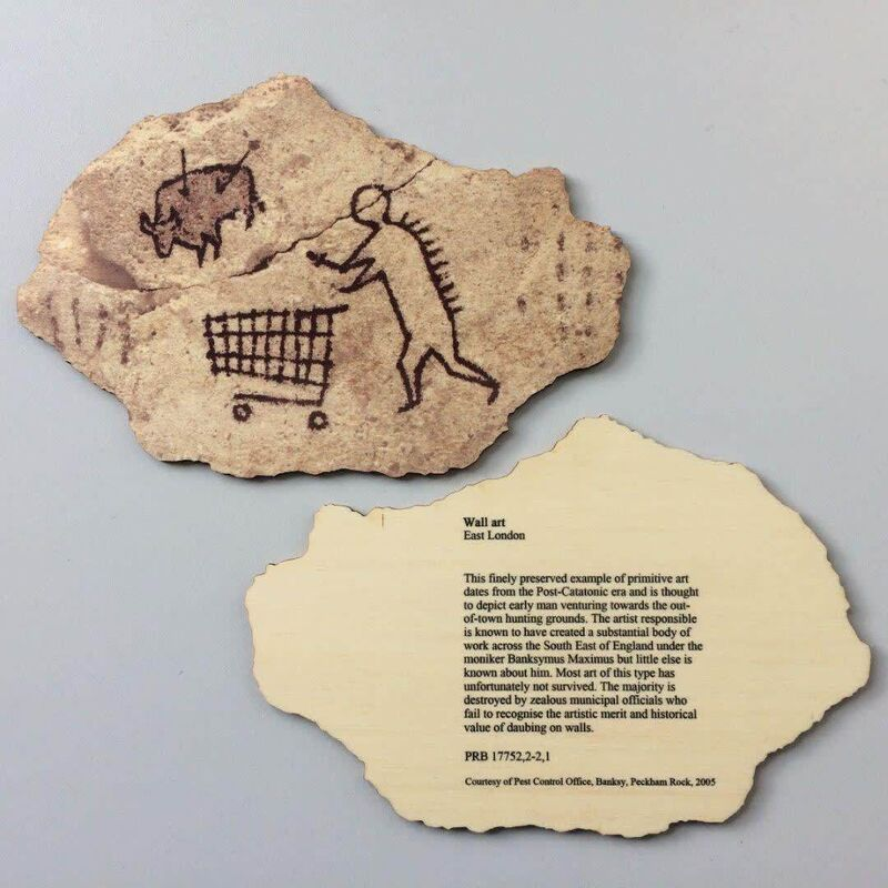 "Banksy, '""PECKHAM ROCK""', 2018, Ephemera or Merchandise, Wooden postcard, Arts Limited"