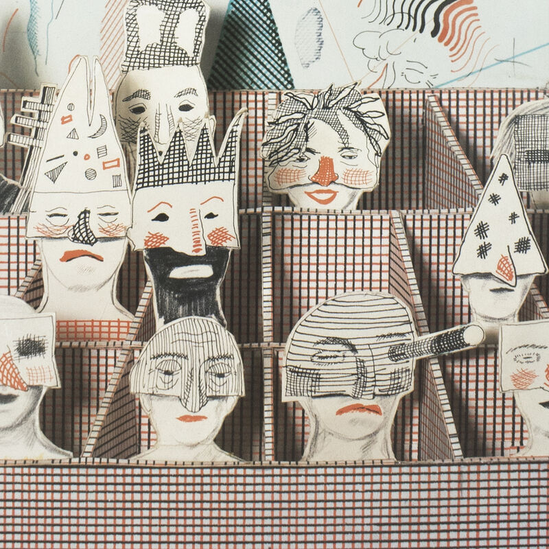 David Hockney, 'San Francisco Opera 1982 (Detail from Bedlam from The Rake's Progress 1975) ', 1982, Posters, Offset lithograph on paper, Petersburg Press
