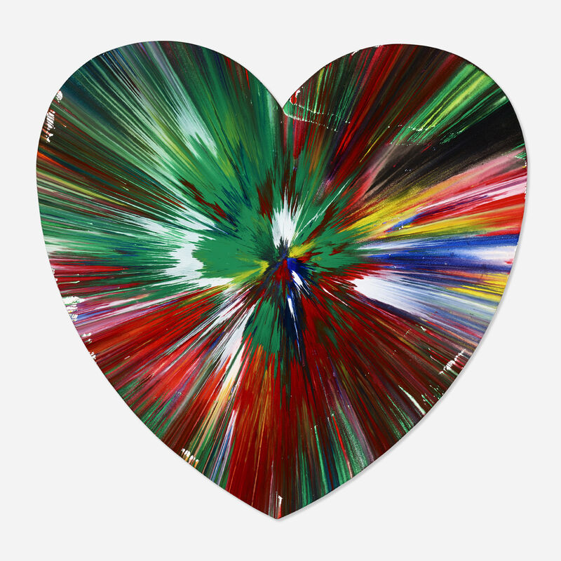 Damien Hirst, 'Heart spin', 2009, Painting, Acrylic on paper, Rago/Wright