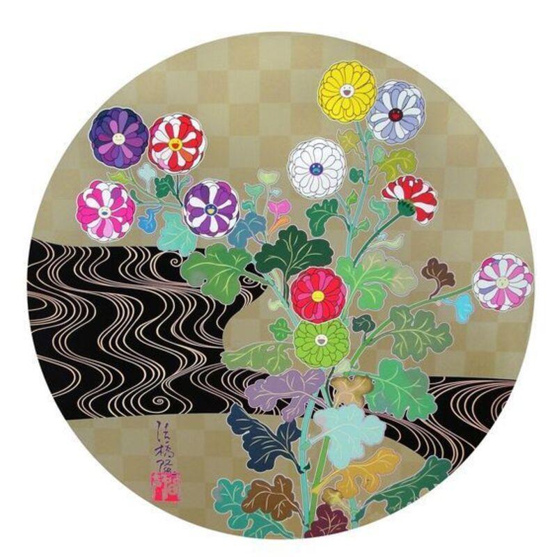 Takashi Murakami, 'Kansei Korin Gold', 2010, Print, Der-Horng Art Gallery