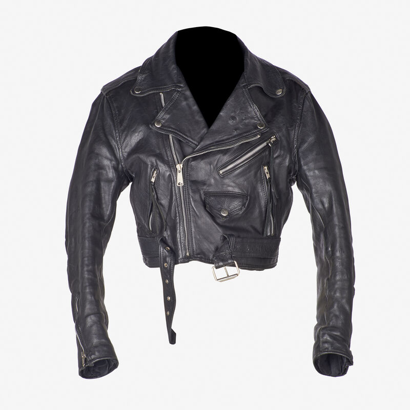 Keith Haring, 'Untitled', Fashion Design and Wearable Art, Silver marker on woman's medium Nice Co., London, leather jacket, 1989, Rago/Wright