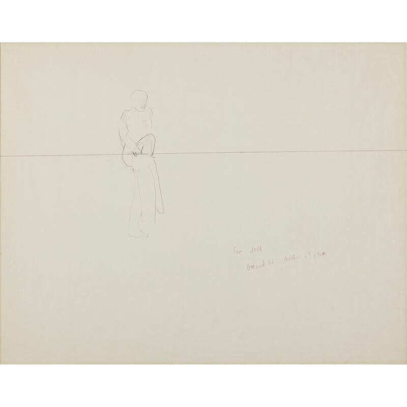 David Hockney, 'Jeff', Drawing, Collage or other Work on Paper, Pencil on paper, Freeman's